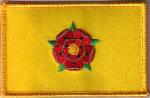 Lancashire Embroidered Flag Patch, style 08.